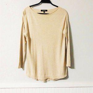 Ellen Tracy Knit Tunic Sweater Tan